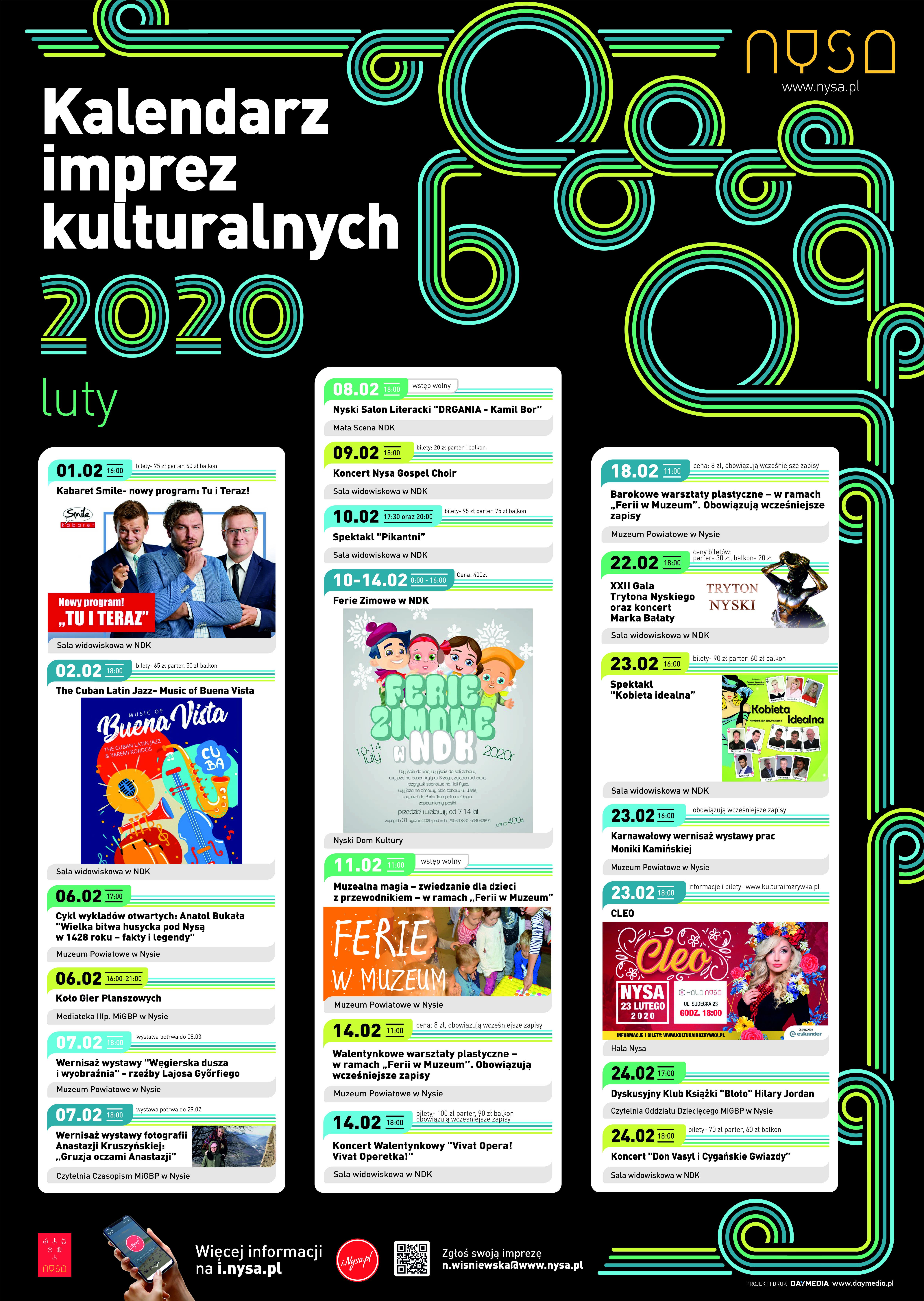 Kalendarz imprez kulturalnych na luty