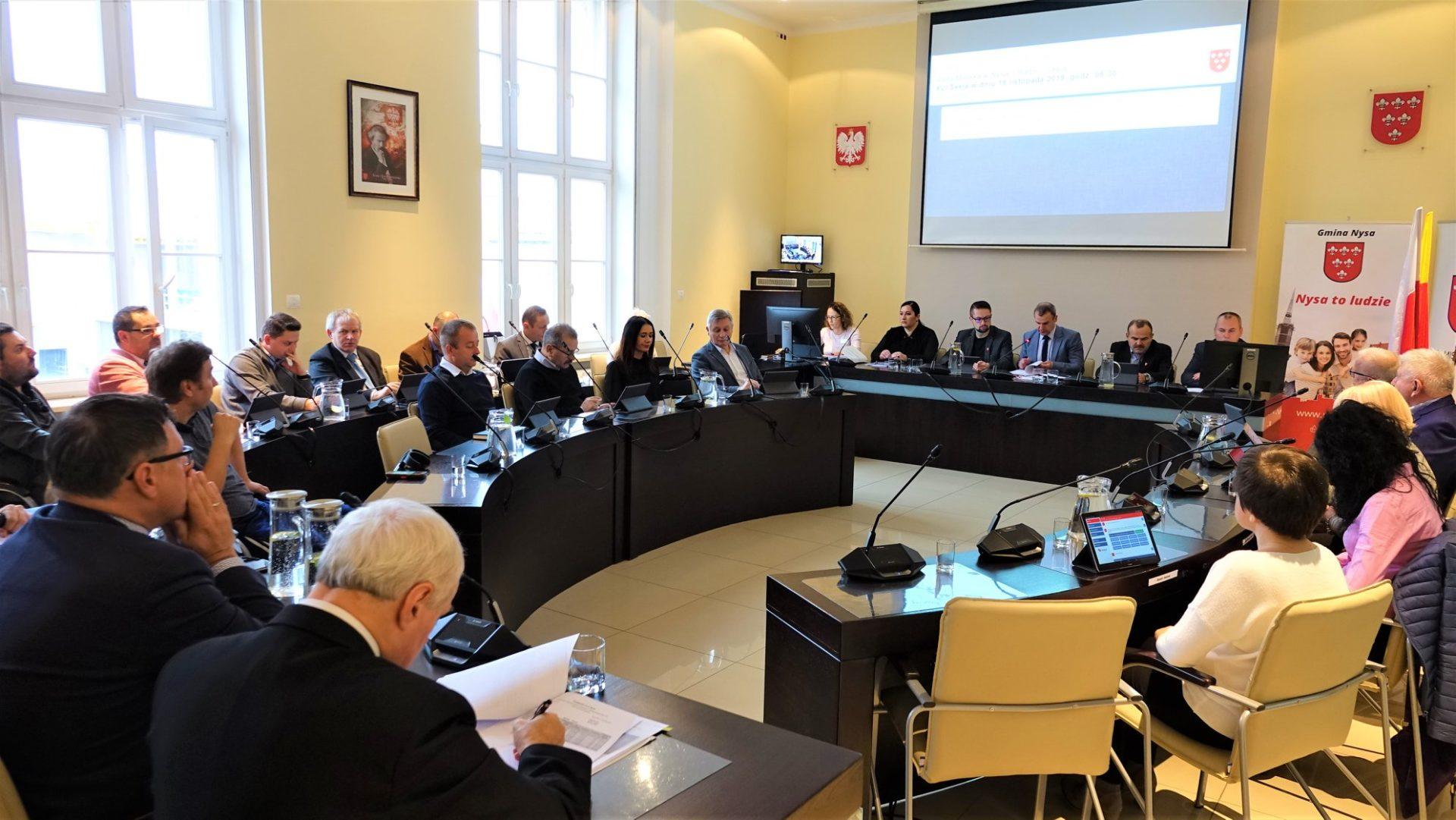 Porządek obrad XXI Sesji Rady Miejskiej w Nysie