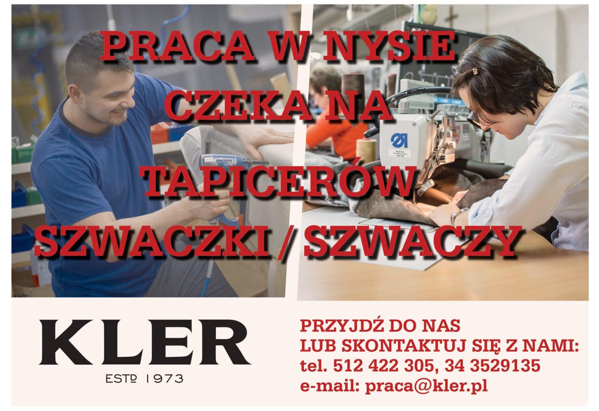 Firma KLER poszukuje pracowników