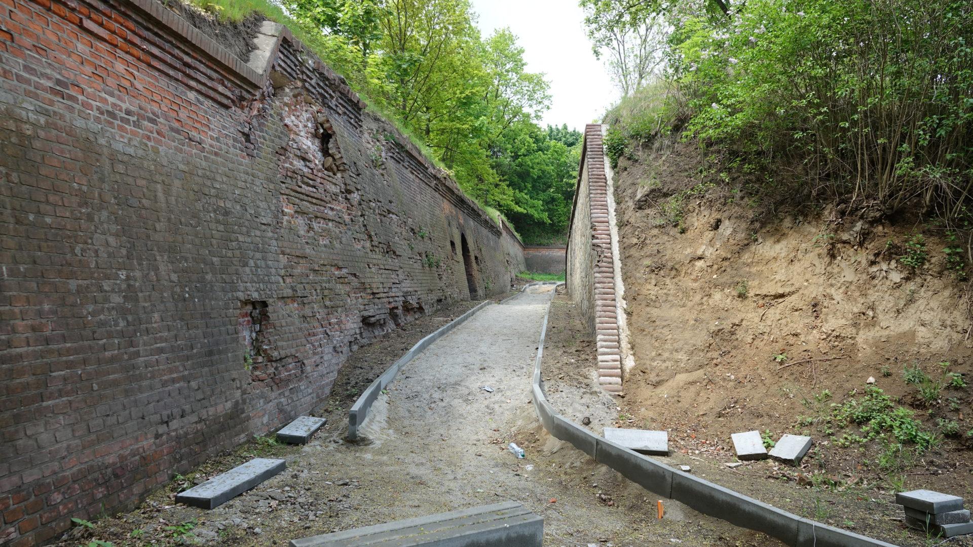 Zaawansowane prace na nyskich fortach – Gmina Nysa