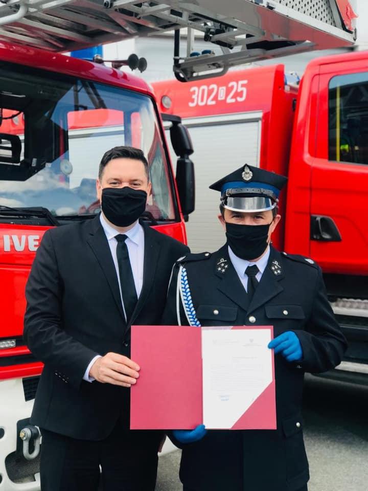 Nowy wóz dla strażaków z naszej gminy
