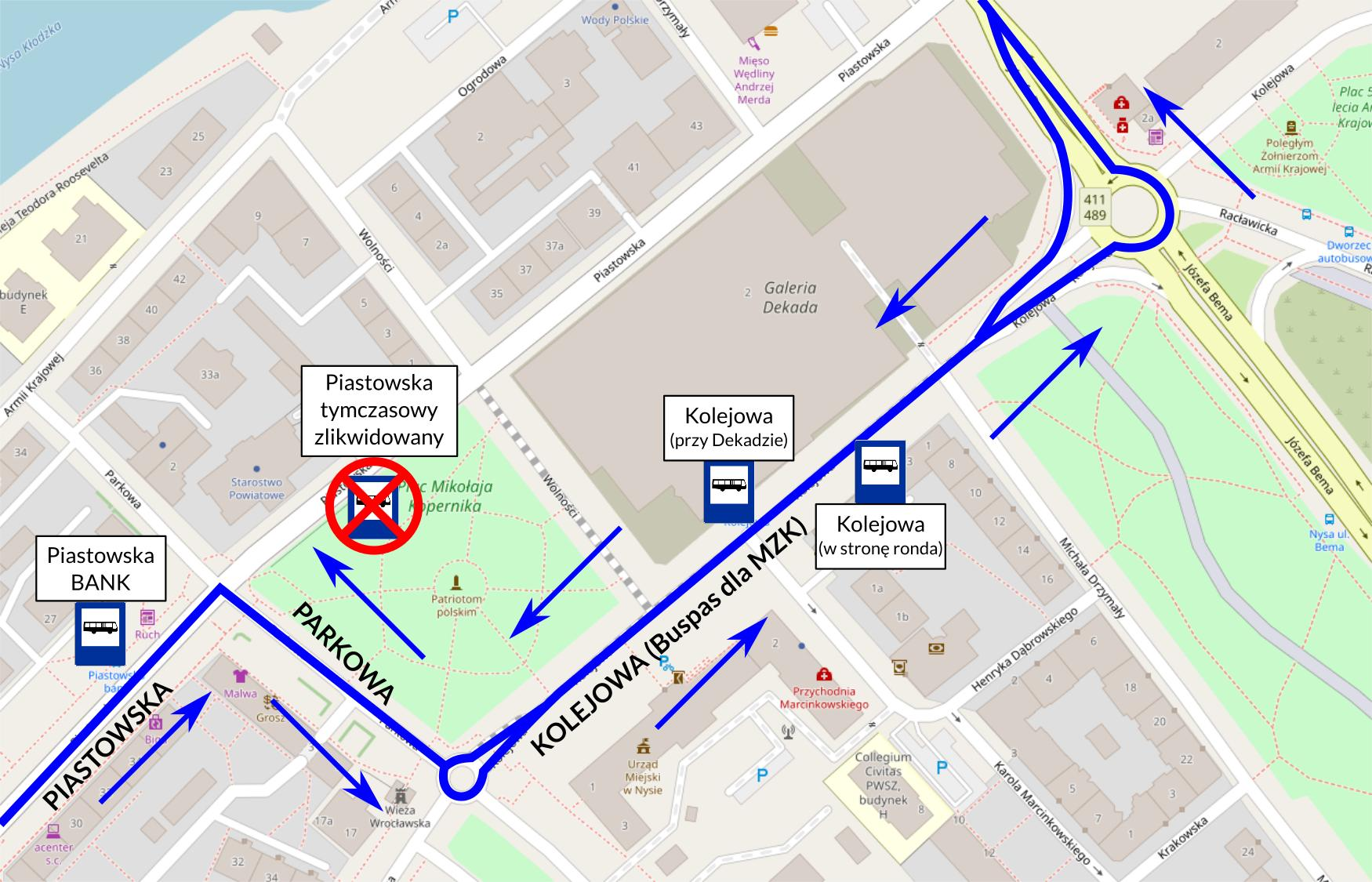 Od poniedziałku autobusy MZK wracają na Kolejową
