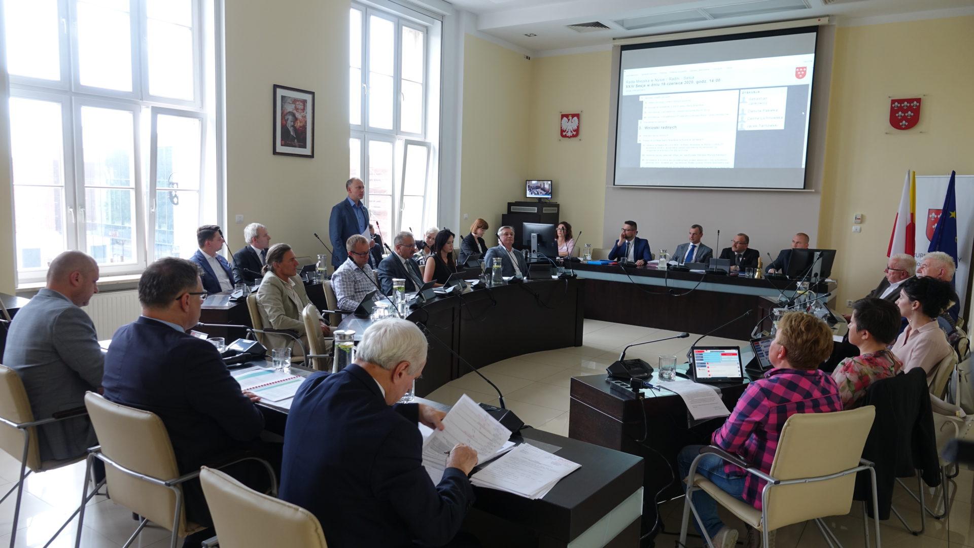 Porządek obrad XXV sesji Rady Miejskiej w Nysie