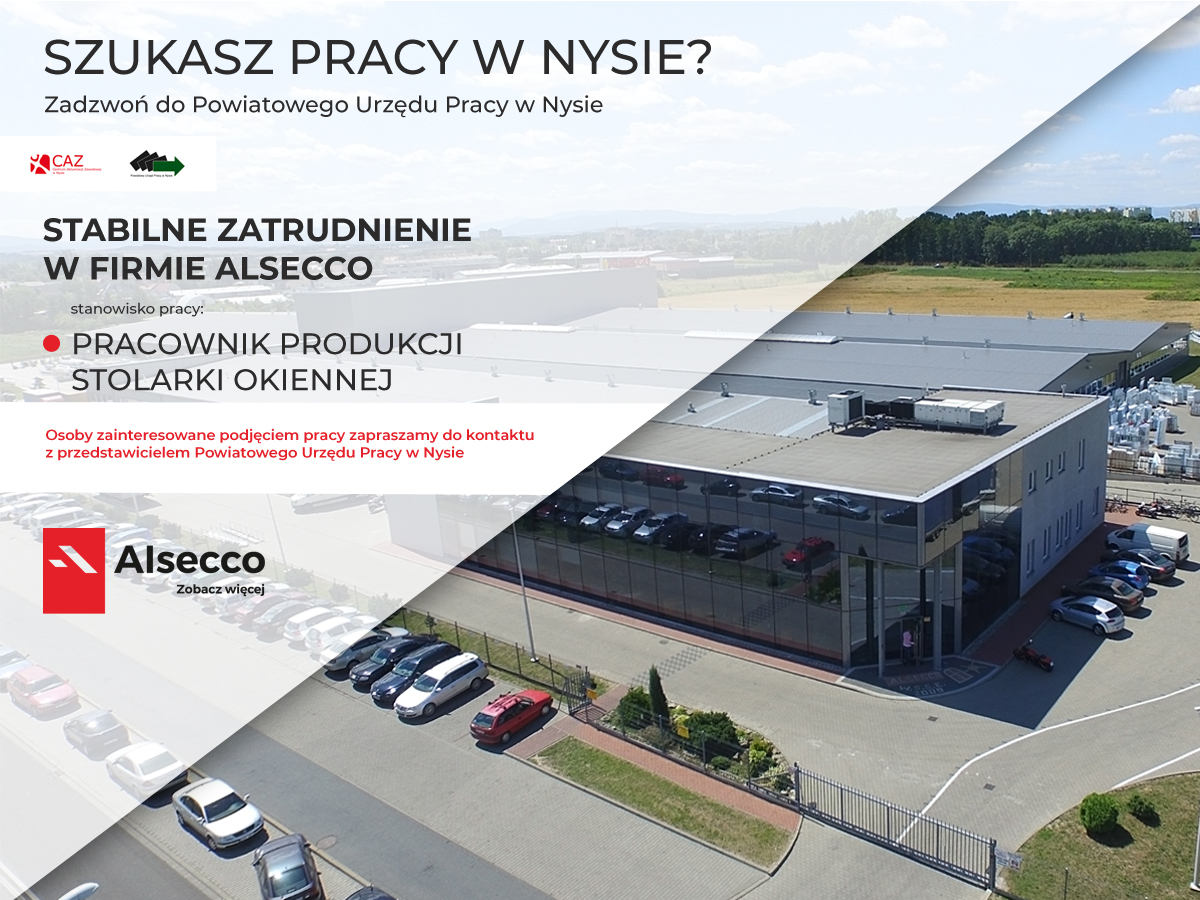 Wolne miejsca pracy w firmie Alsecco