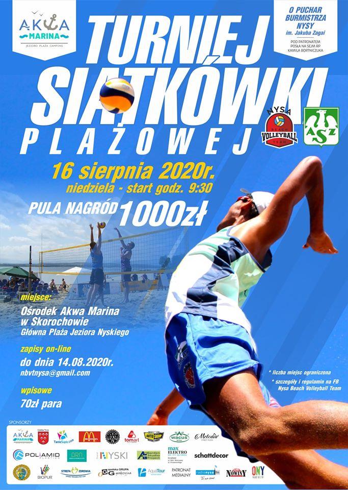 Turniej siatkówki plażowej o puchar Burmistrza Nysy
