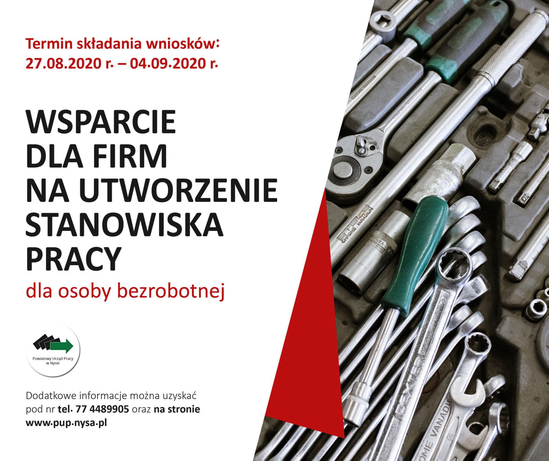 Wsparcie dla firm na utworzenie stanowiska pracy dla osoby bezrobotnej