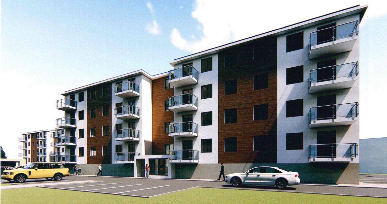 Nowe bloki mieszkaniowe przy ulicy Zwycięstwa