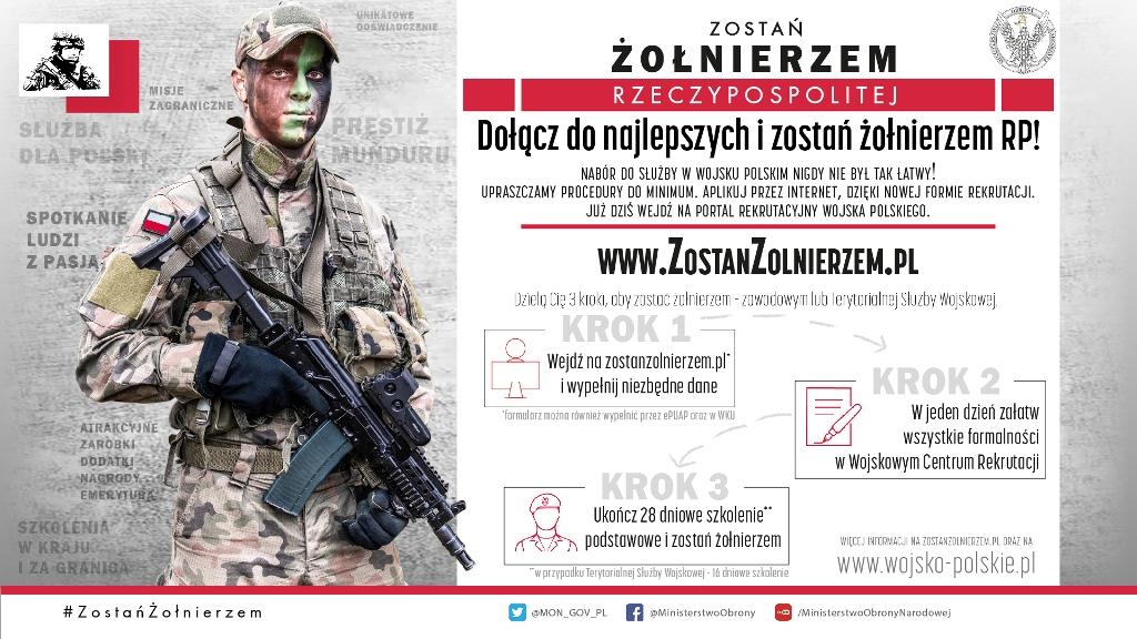 RUSZA NOWY SYSTEM REKRUTACJI DO WOJSKA POLSKIEGO