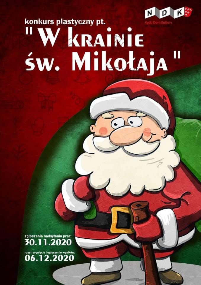"""Konkurs plastyczny """"W krainie św. Mikołaja"""""""