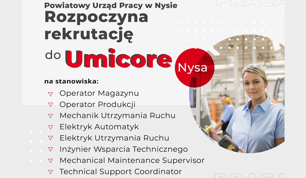Rekrutacja do firmy Umicore