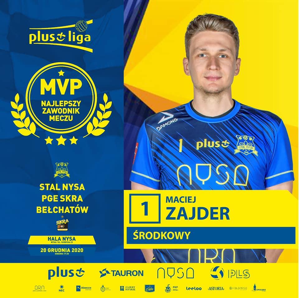 Maciej Zajder MVP spotkania