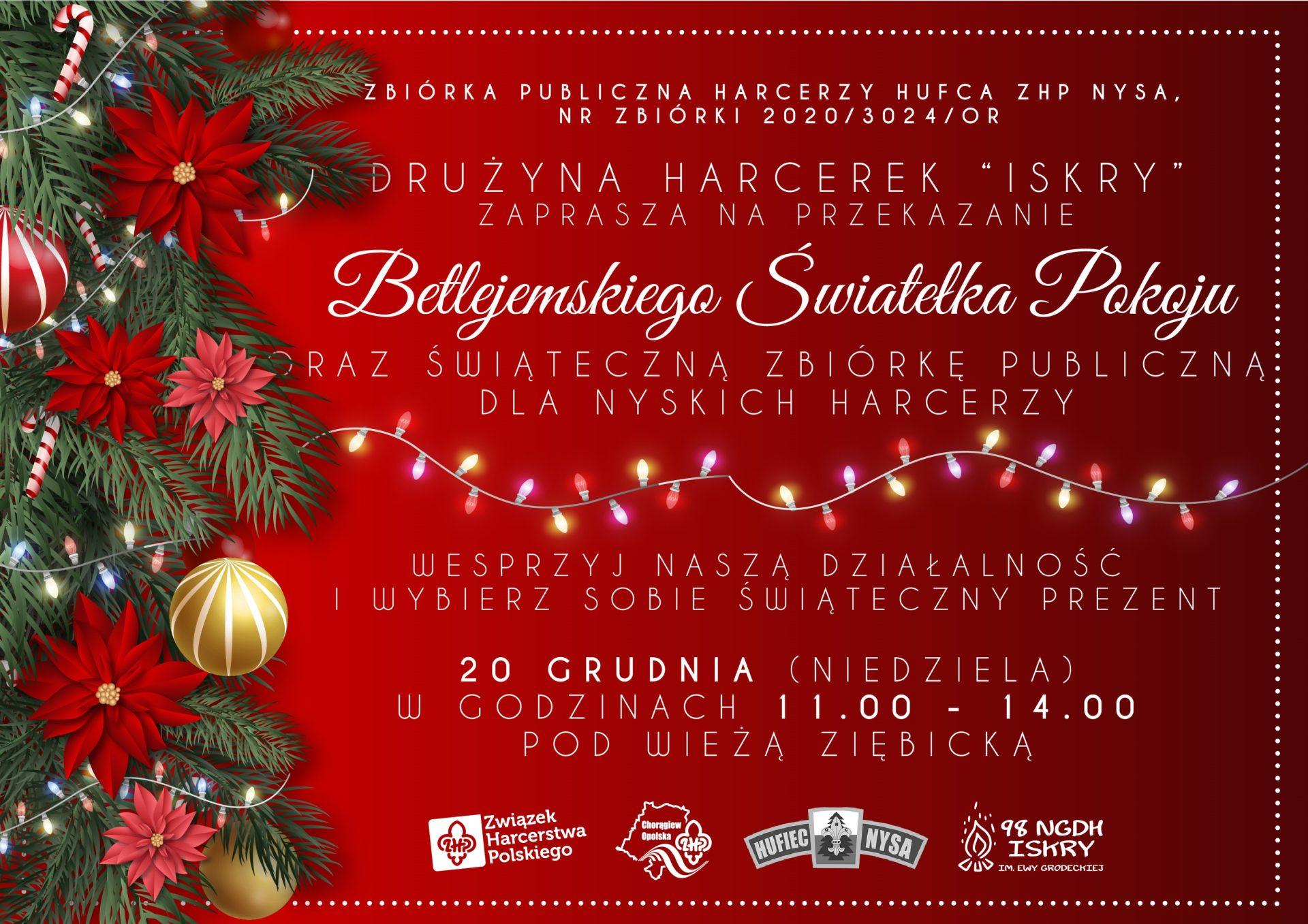 Zbiórka publiczna harcerzy Hufca ZHP Nysa