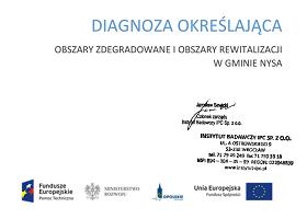 Opracowanie diagnozy obszaru zdegradowanego i obszaru rewitalizacji Gminy Nysa