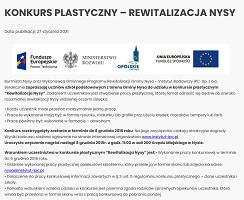 Konkurs Plastyczny – Rewitalizacja Nysy