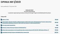 OPINIA NR 1/2021