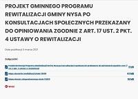 Projekt Gminnego Programu Rewitalizacji Gminy Nysa po konsultacjach społecznych przekazany do opiniowania zgodnie z art. 17 ust. 2 pkt. 4 ustawy o rewitalizacji