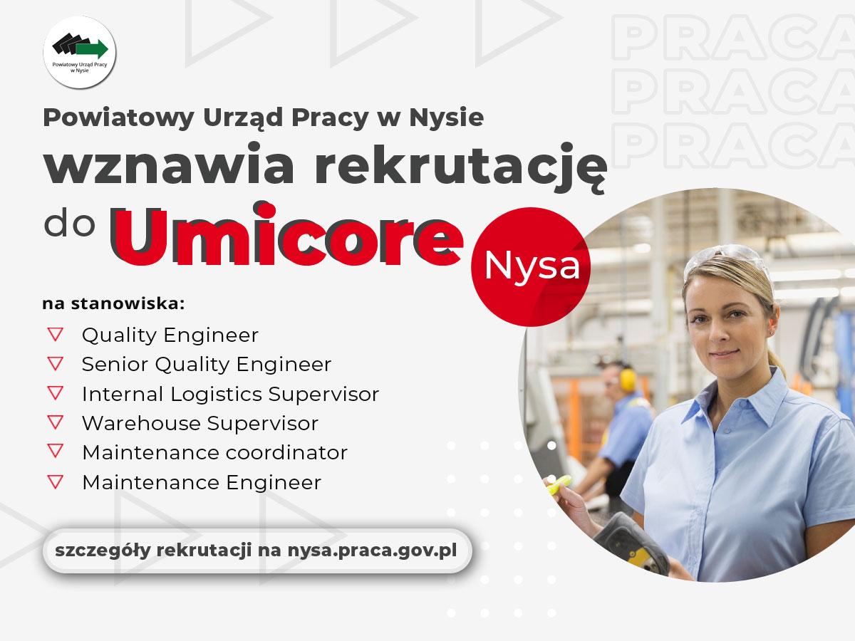 Rekrutacja do Umicore Nysa