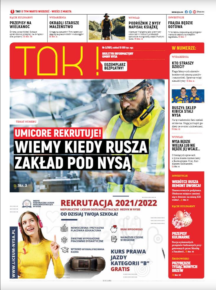 "Nowy numer gazety ""TAK!"""