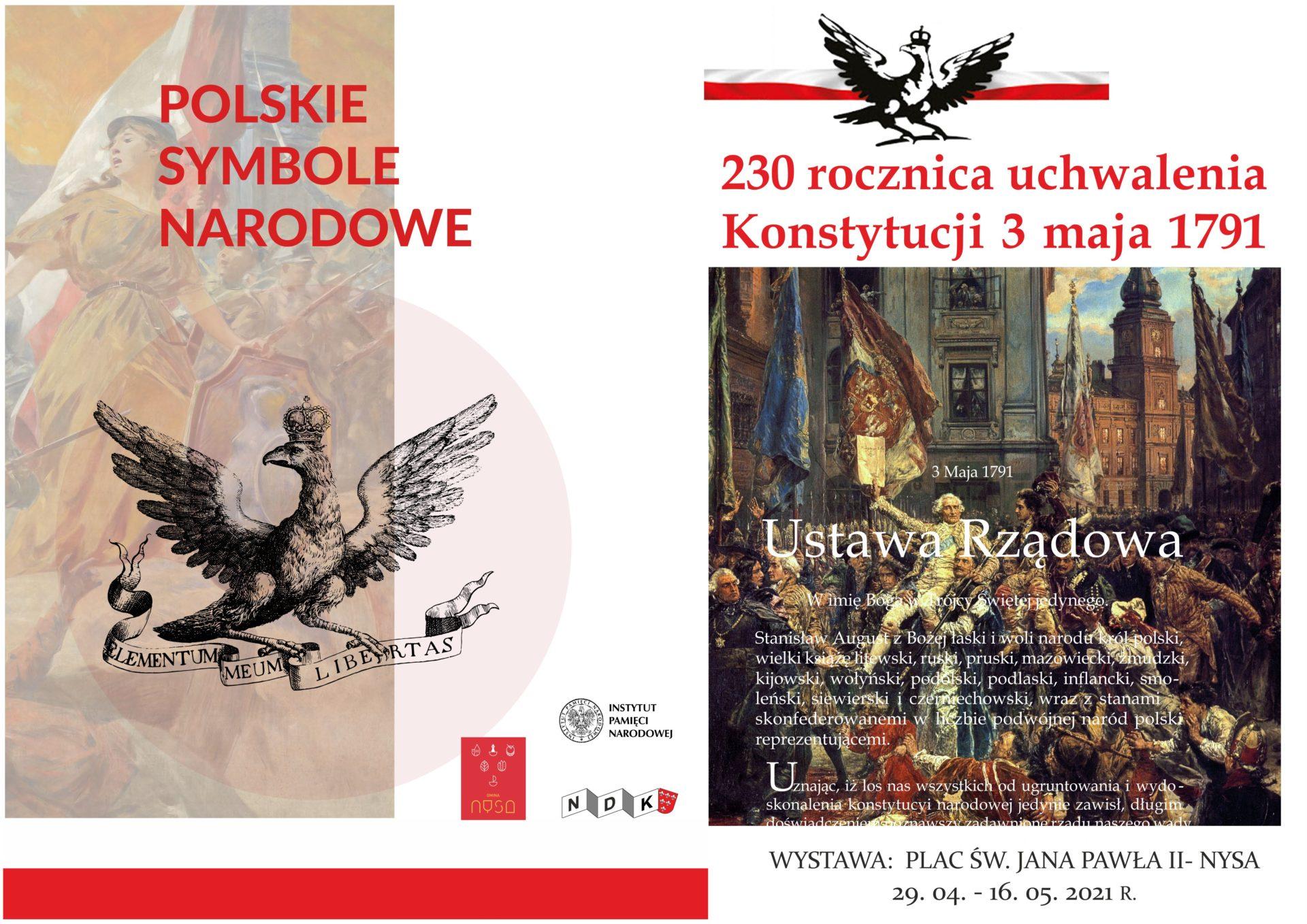 plakat symbole i 3 maja