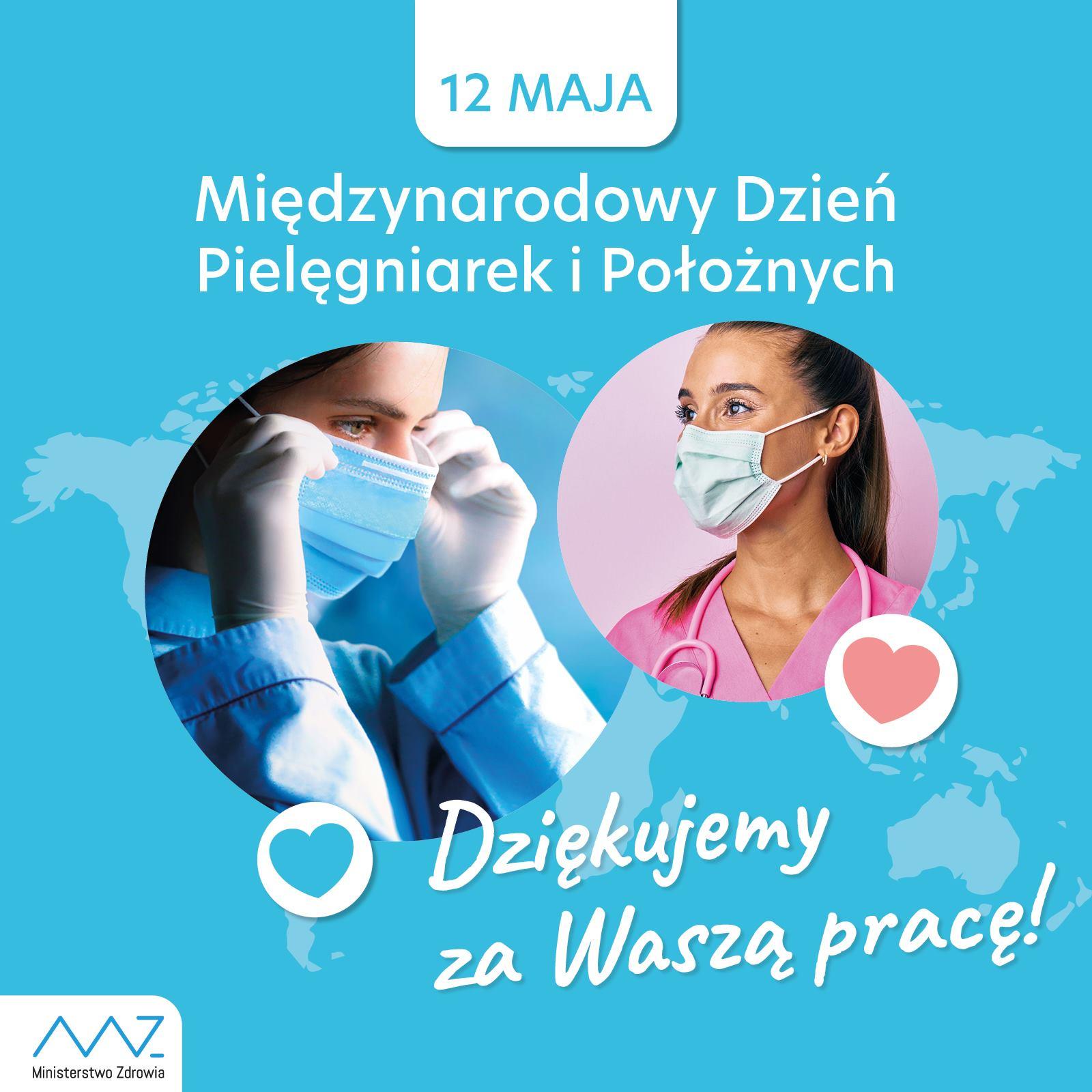grafika - Międzynarodowy Dzień Pielęgniarki i Międzynarodowy Dzień Położnej