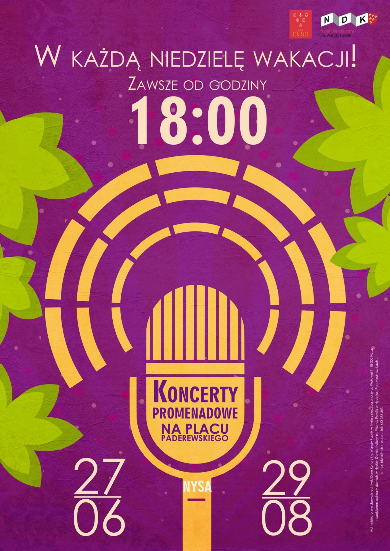 koncerty na Paderewskiego plakat