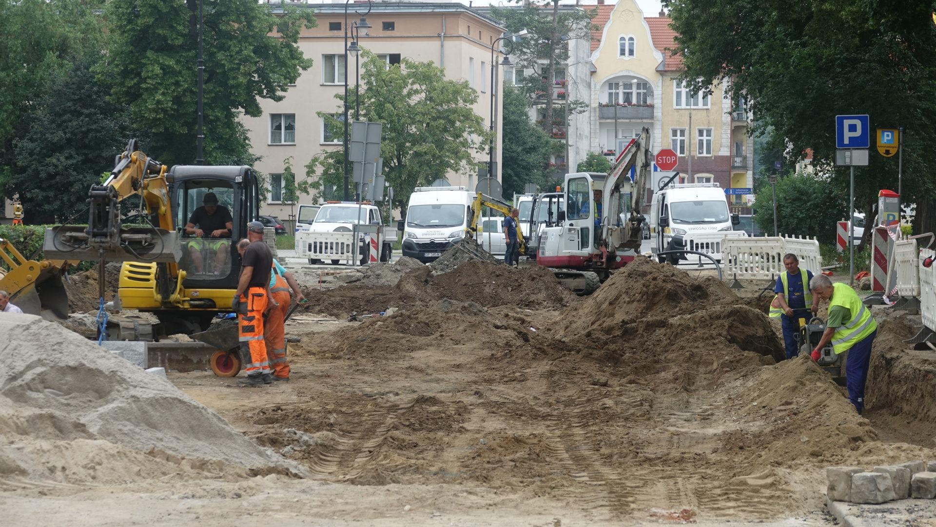 Trwa remont ul. Parkowej