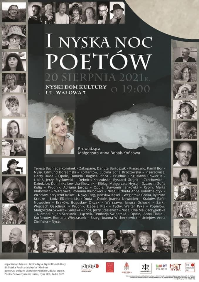 I Nyska Noc Poetów plakat