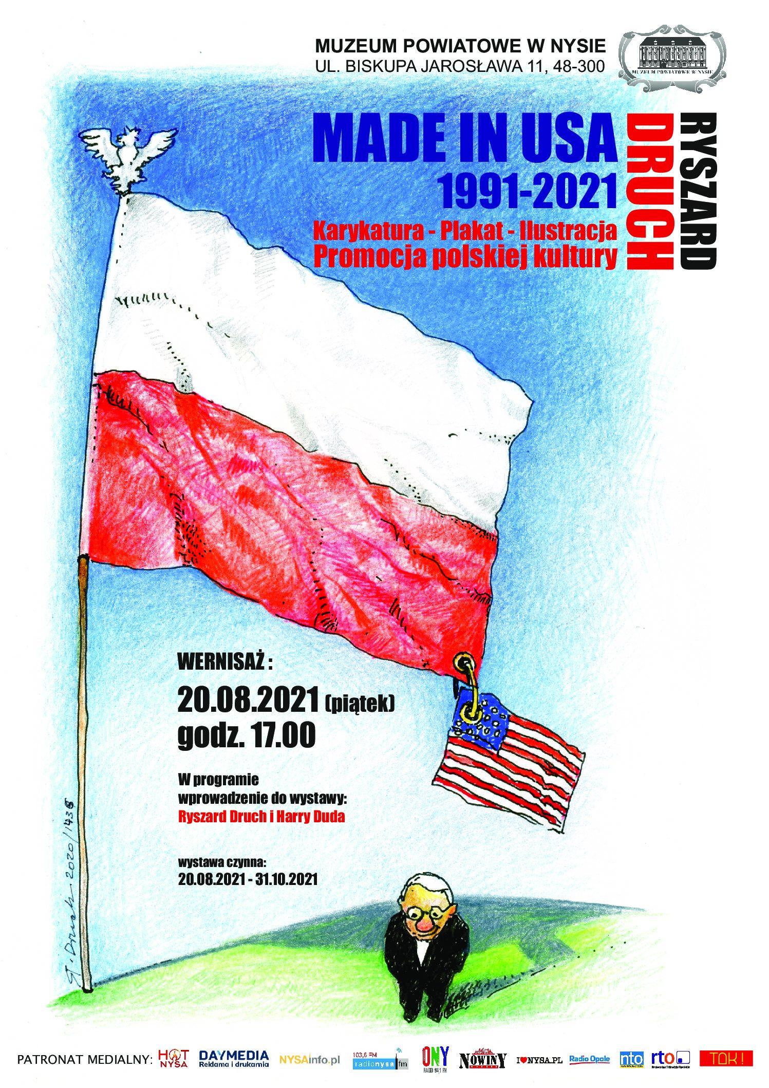 "wernisaż wystawy ""RYSZARD DRUCH – MADE IN USA 1991-2021"