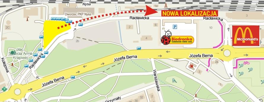 Zmiana lokalizacji placu dworcowego - Gmina Nysa