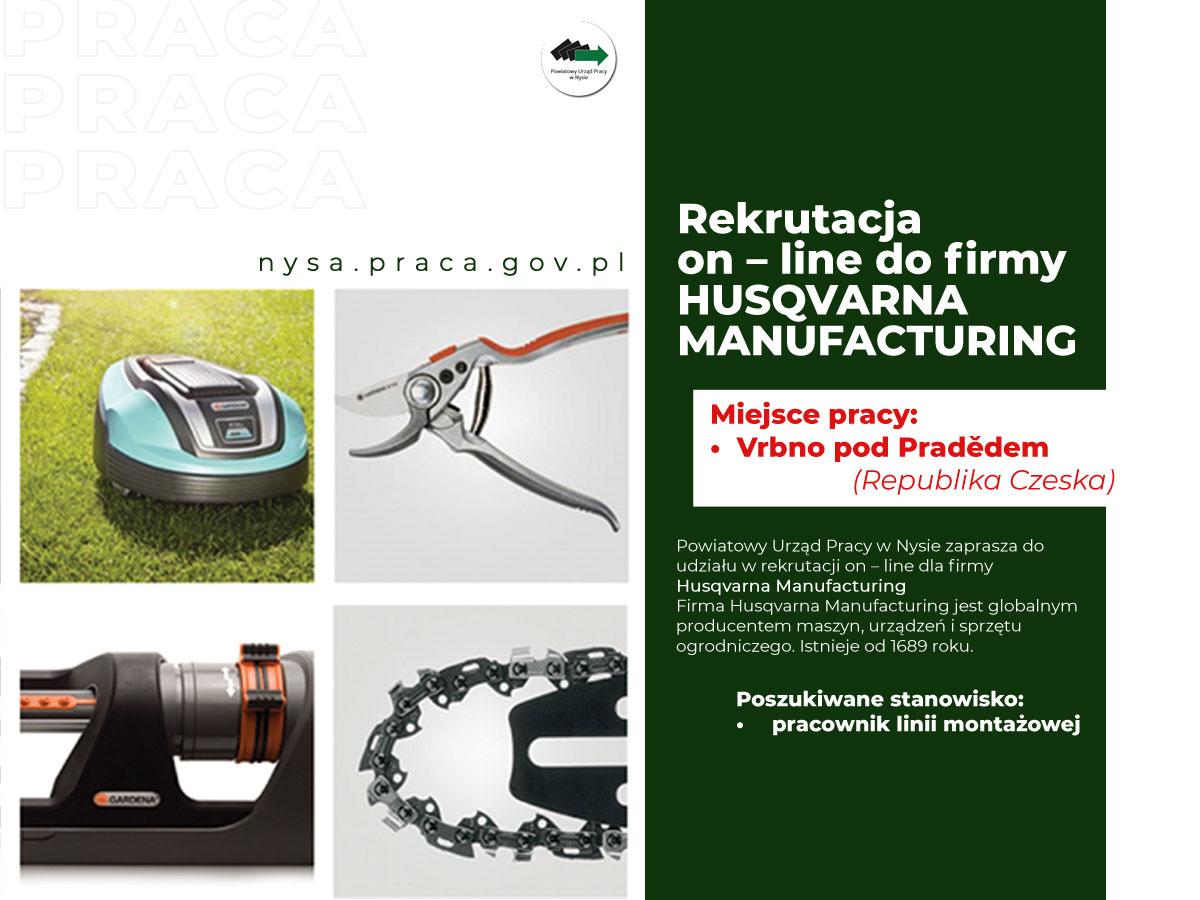 Husqvarna Manufacturing prowadzi rekrutację