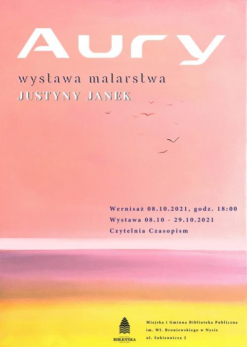 Wernisaż Justyny Janek w Miejskiej Bibliotece